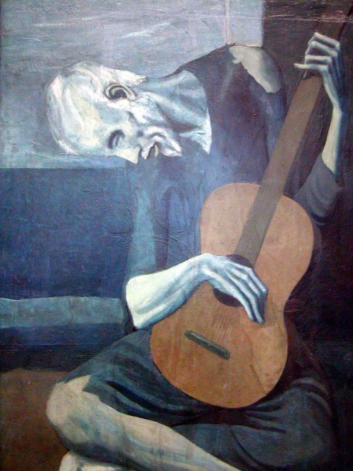 picasso old man guitar