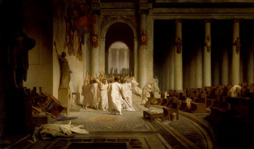 Jean-Léon Gérôme - The Death of Caesar_-_Walters_37884