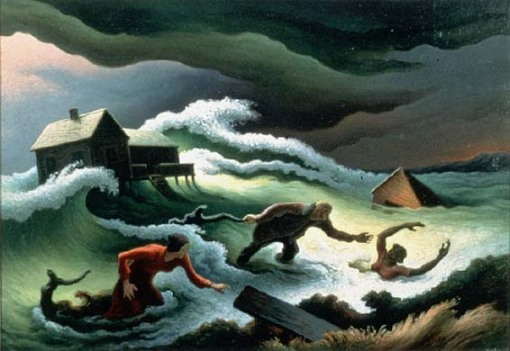 1951 Thomas Hart Benton (American regionalist artist, 1889–1975) Flood